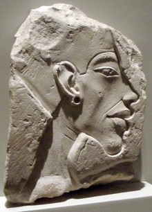 Bas-relief portrait of Akhenaten