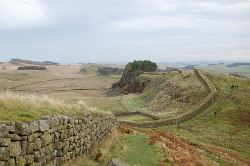 Hadrian's wall from Housesteads fort