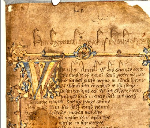 Manuscript of the Canterbury Tales