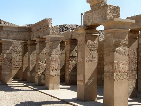 Peristyle hall of Thutmoses IV at Thebes