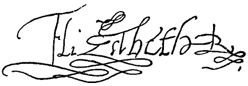 Signature of Elizabeth I