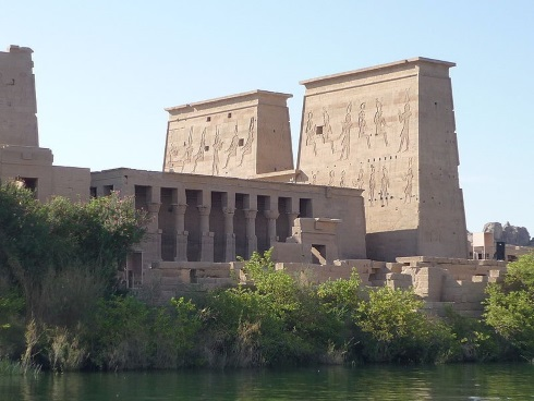 Temple of Isis, first pylon, Philae