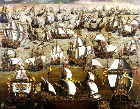 The Armada sets sail from Ferrol, Spain